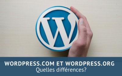 wordpress.com et wordpress.org quelle différence?