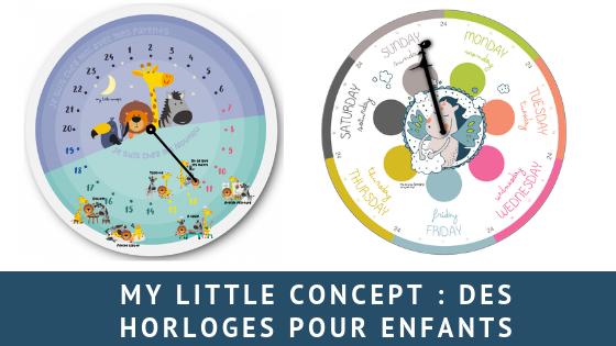 My little concept: L'horloge pour enfant