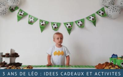 Idées cadeau pour un enfant de 3 ans et activités pour la fête