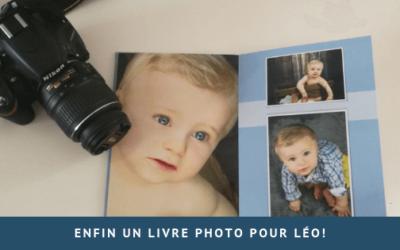 Enfin un livre photo pour Léo!