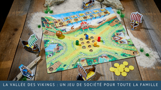 La vallée des Vikings : un jeu de société pour toute la famille