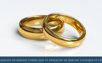 Organiser un mariage symbolique vs organiser un mariage classique et légal